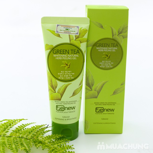 Gel tẩy tế bào chết chiết xuất từ trà xanh cao cấp sạch nhờn ngừa mụn Hàn Quốc Benew Green Tea Peeling Gel (120ml) - Hàng Chính Hãng